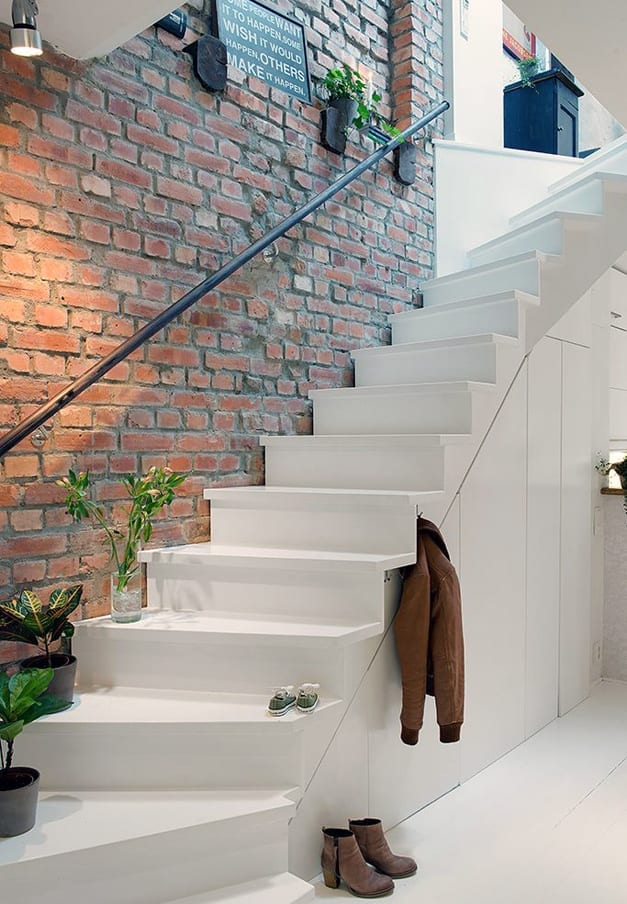 creative storage solutions under the stairs - closed storage