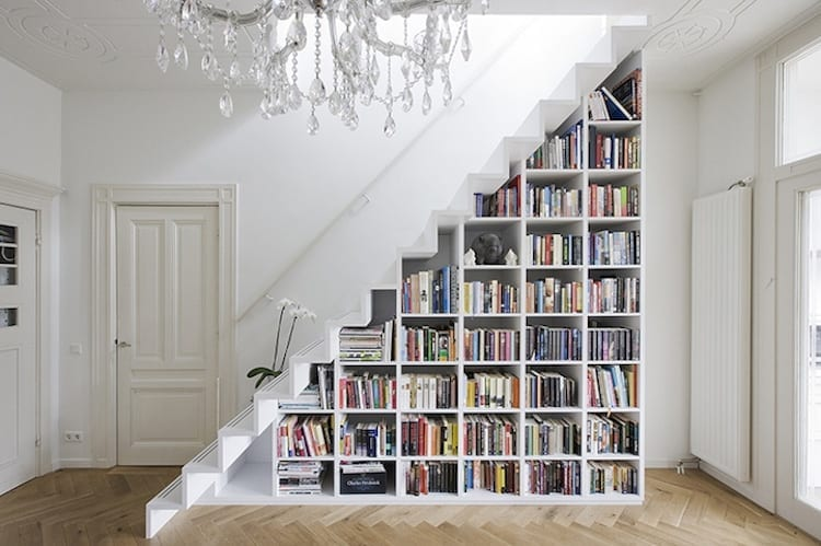 bookshelf staircase design